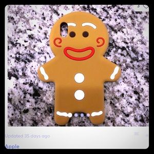 iPhone X case Gingerbread man